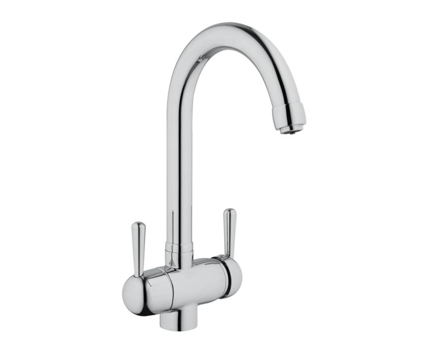 rubinetto 3 vie per depurare acqua